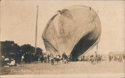 Smoke Filled Hot Air Balloon Palo Alto Festival 1907 Postcard
