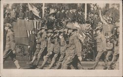 Military in Parade Before President Taft Postcard