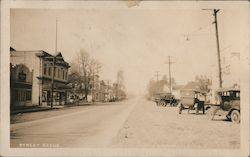 Street Scene, Centerville Buildings, Street, and Cars