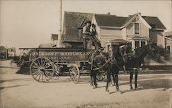 Jackson Furniture Co. Delivery Wagon Postcard