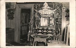 Ornate Interior, Asian Postcard