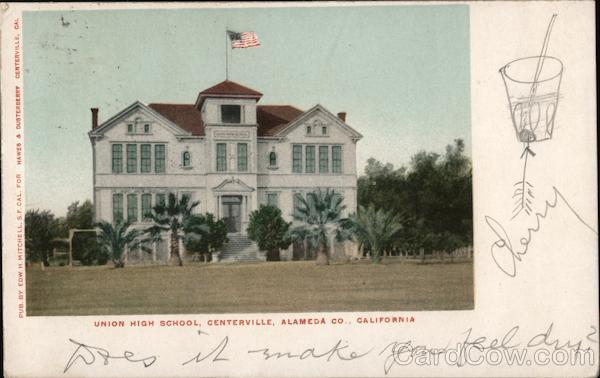 Union High School, Centerville, Alameda Co., California