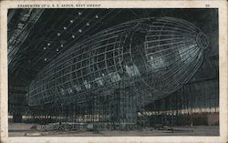 Framework of U.S.S. Akron, Navy Airship (Macon?)