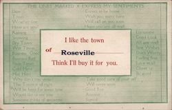 I Like the Town of Roseville, I Think I'll Buy it For You