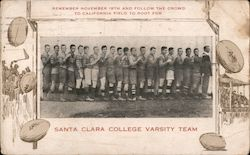 Santa Clara College Varsity Football Team Rare!