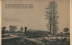 The Railroad Reaches Palo Alto in 1863