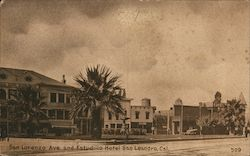 San Lorenzo Ave. and Estudillo Hotel Postcard