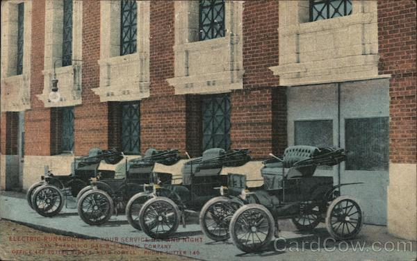 Electric Runabouts (Early Electric Cars) San Francisco California