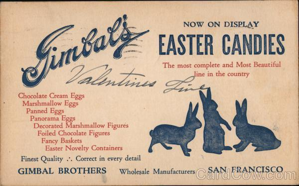Gimbal's Brothers Wholesale Candy San Francisco California