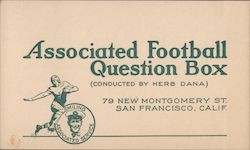 Associated Football Question Box Postcard