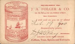 J.A. Folder & Co., Baking Powder