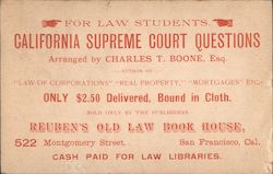 California Supreme Court Questions Postcard