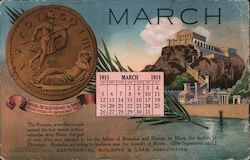 Continental Building & Loan Association, March Calendar