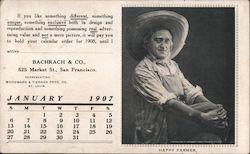Happy Farmer, Bachrach & Co. January 1907 Calendar