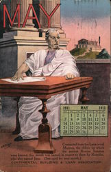 Continental Building & Loan Association, May 1911 Calendar