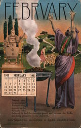Continental Building & Loan Association, February 1911 Calendar