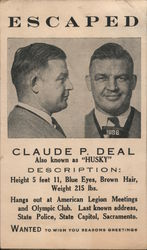 "Claude P. Deal ""Wanted"" - Olympic Club"