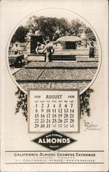 Blue Diamond Almonds Brand California Almond Growers Exchange August 1920 Calender