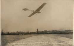"1911 Hubert Latham Flying Over The Bay in this ""Antionette"""