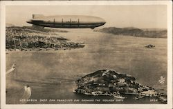 USS Akron over San Francisco Bay showing the Golden Gate