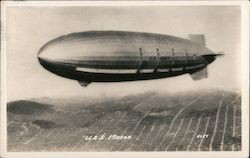 USS Macon over San Francisco