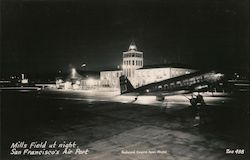 Mill's Field at Night, San Francisco Air Port