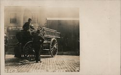 Rare San Francisco Fire Deparment Chemical at Work Postcard