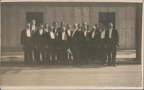 Group of Men in Tuxedos San Francisco California
