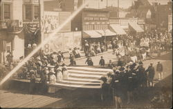 Parade With Women In Flag Panama Pacific Exposition 1915 Photo