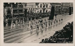 Abdallah Shriners from Leavenworth Kansas in Parade Postcard