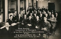 First Annual Convention of Managers - F.W. Woolworth Co Postcard