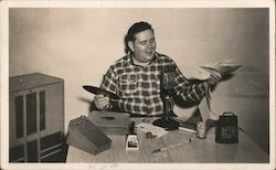 KYA Radio Announcer Postcard