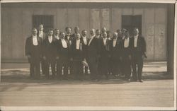 Group of Men in Tuxedos Postcard