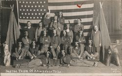 Rare Degree Team of the Ahwashte Tribe Postcard