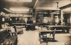Moose Club, No. 26, Billiards Room Postcard