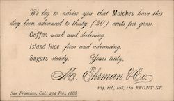 M. Ehrman & Co. Postcard
