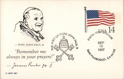 "Pope John Paul II ""Remember me always in your prayers!"""