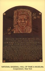 Willie Mays, Jr., Plaque at National Baseball Hall of Fame & Museum