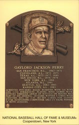 Gaylord Perry Plaque, National Baseball Hall of Fame and Museum
