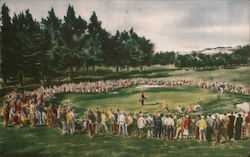 Thirteenth Hole U.S. Public Links Championship San Francisco 1956 Postcard