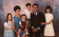 George Moscone, Candidate State Senate (10th District) and Family Postcard