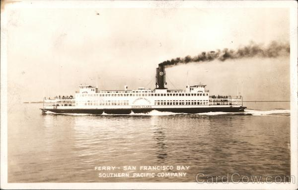 Ferry Santa Clara - San Francisco Bay Southern Pacific Company California