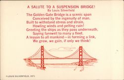 A Salute to a Suspension Bridge Postcard