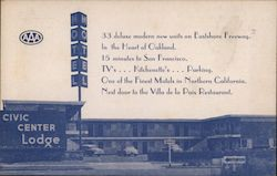 Civic Center Lodge Postcard