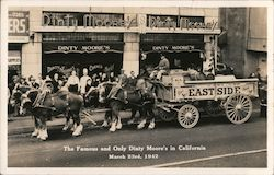 The Famous and Only Dinty Moore's Eastside Beer Wagon Postcard