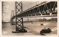 The Passing of the Ferry Boat - San Francisco - Oakland Bay Bridge