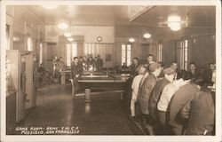 Game Room - Army Y.M.C.A. Presidio Postcard