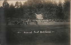 Annual Football Game, Golden Gate Park Postcard