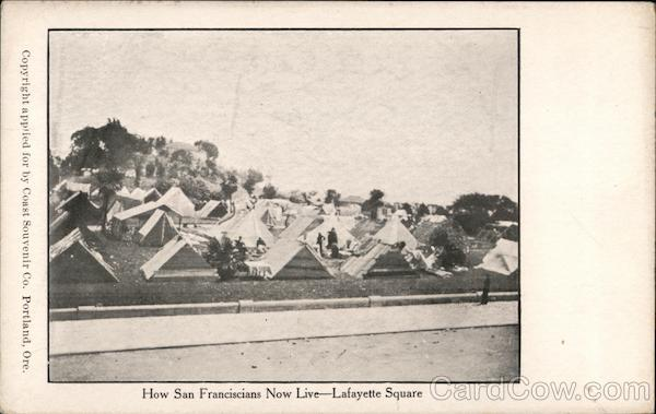 How San Franciscians Now Live - Lafayette Square San Francisco California