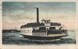 Vallejo Ferry to Mare Island Navy Yard Postcard